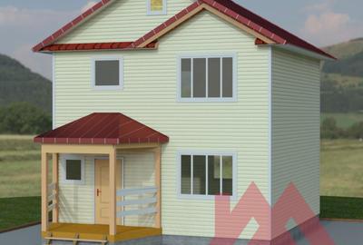 """Каркасный дом """"Валдай"""", 7.2*7.2 м, 82 м.кв."""