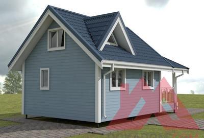 """Проект каркасного дома """"Вита"""" 6*5,5, 43 кв.м."""