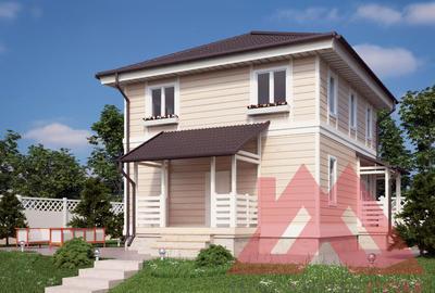 "Проект каркасного дома ""Тауэр"", 9*8 м, 133 м.кв."