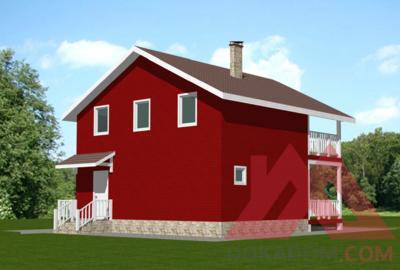 """Проект каркасного дома """"Ванесса"""", 9*9 м, 104 м.кв."""