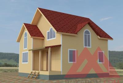 """Проект каркасного дома """"Олимп"""", 8.3х8.9, 115 кв.м."""