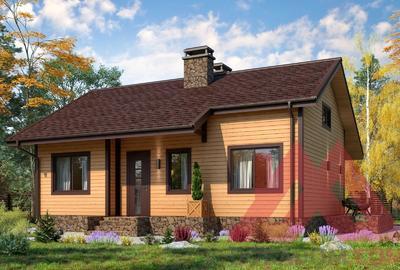 """Проект каркасного дома """"Кейт"""", 11*8 м, 83 м.кв."""