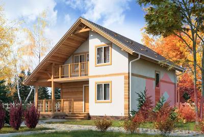 """Проект каркасного дома """"Лета"""" 7*9 м, 99 м.кв."""