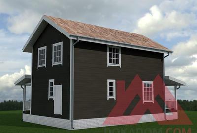 "Проект каркасного дома ""Веста"", 12*8, 123 м.кв."