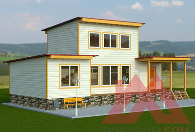 """Проект каркасного дома """"Вилли"""", 6.3*15, 89 кв.м."""