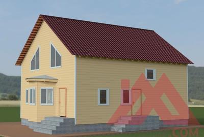 """Проект каркасного дома """"Валерия"""", 12.8*10.5м, 202 кв.м."""