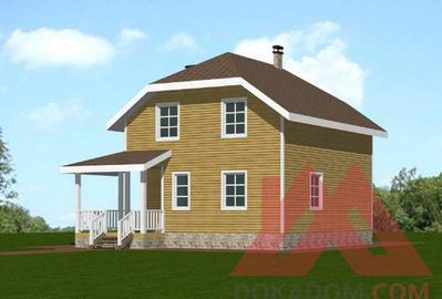 """Проект каркасного дома """"Флора"""", 8*7, 104 м.кв."""