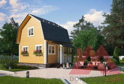 "Проект каркасного дома ""Фиалка"", 5*4, 32 м.кв."