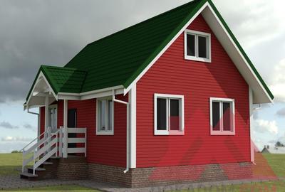 "Проект каркасного дома ""Лана"" 7*9, 66 кв.м."
