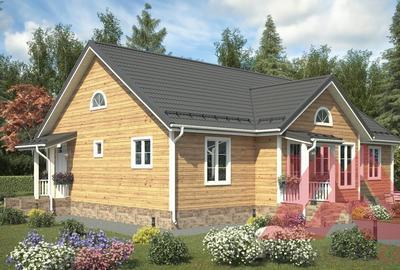 """Проект каркасного дома """"Айрис"""", 15*11,5 м, 140 м.кв."""