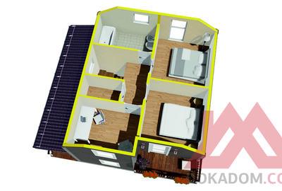 """Проект каркасного дома """"Аллегро"""", 8*7 м, 101 м.кв."""
