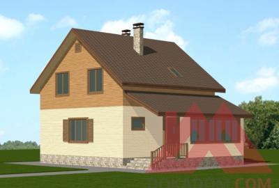 """Каркасный дом """"Женни"""", 10,5*8 м, 133 м.кв."""