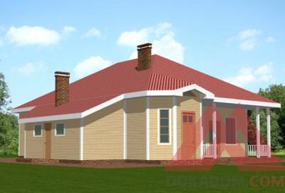 "Проект каркасного дома ""Соната"", 15*17,5 м, 251 м.кв."