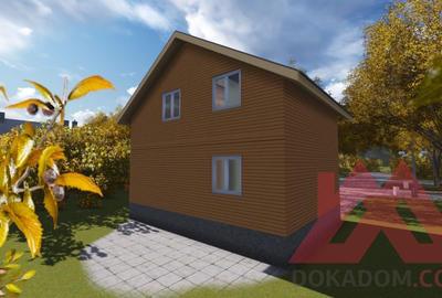 "Проект каркасного дома ""Балчуг-4"", 6*8, 80 м.кв."