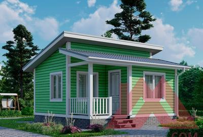 """Проект каркасного дома """"Виола"""" 6*6, 27 кв.м."""