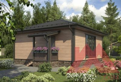 """Проект каркасного дома """"Альбион"""", 8*8, 57 м.кв."""