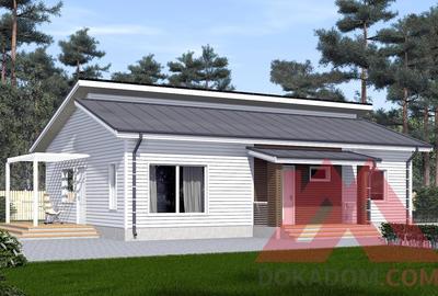 "Проект каркасного дома ""Юкка-2"" 12,5*8,6, 92 м.кв."