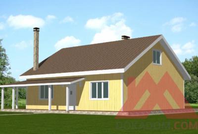 """Проект каркасного дома """"Бауэр"""", 10,5*11, 148 м.кв."""