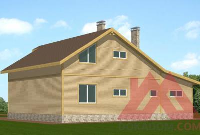 "Проект каркасного дома ""Гамма"", 14,6*12 м, 212 м.кв."