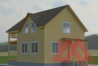 """Проект каркасного дома """"Алиса"""", 8*8,5 м, 79 кв.м."""