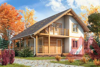 """Каркасный дом """"Лета"""" 7*9 м, 99 м.кв."""