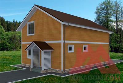 """Каркасный дом """"Смарт"""", 7,5*9,8 м, 138 м.кв."""