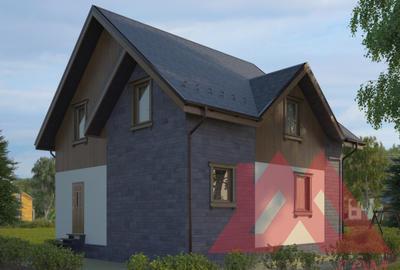 """Проект каркасного дома """"Олимп-2"""", 9*8 м, 125 м.кв."""