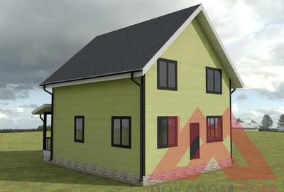 """Проект каркасного дома """"Иволга"""", 10*8 м, 127 м.кв."""