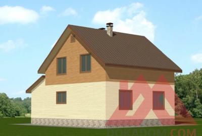 """Проект каркасного дома """"Женни"""", 10,5*8 м, 133 м.кв."""