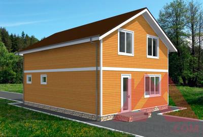 "Проект каркасного дома ""Смарт"", 7,5*9,8 м, 138 м.кв."