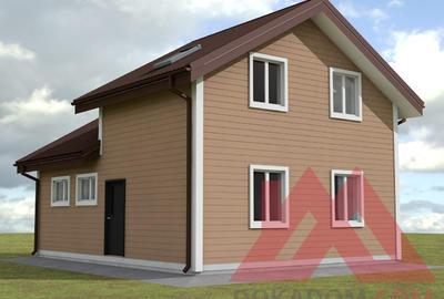 """Проект каркасного дома с гаражом """"Варда"""", 9*7 м, 83 м.кв"""