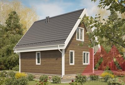 "Проект каркасного дома ""Люси-2"", 6*8 м, 74 м.кв."