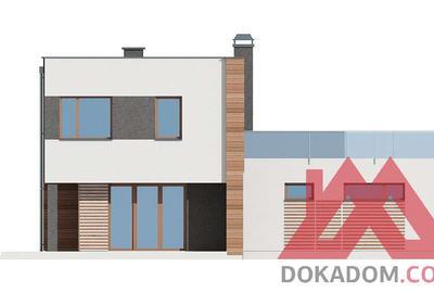 "Проект каркасного дома ""ОС-08"" 10,6*13,7, 132 м.кв."