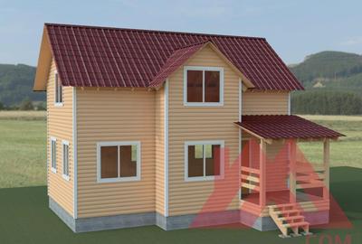 """Каркасный дом """"Терем-3М"""", 6*9 м, 84 м.кв."""
