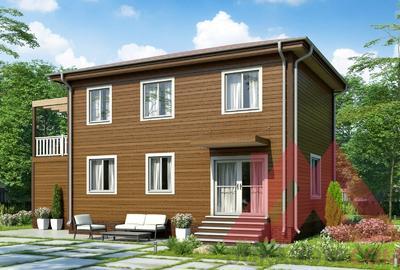 """Проект каркасного дома """"Тесли"""", 14*9 м, 159 м.кв."""