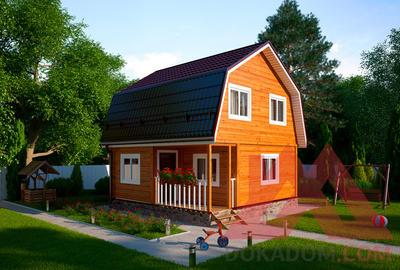 "Проект каркасного дома ""Рубин"", 6*6, 50 м.кв."