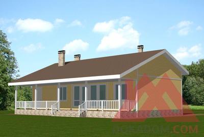 "Проект одноэтажного каркасного дома ""Шуя"", 15,5*10, 116 кв.м."