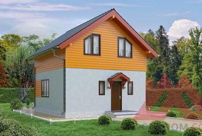 "Проект каркасного дома ""ДП-03"" 7*6,5, 75 м.кв."