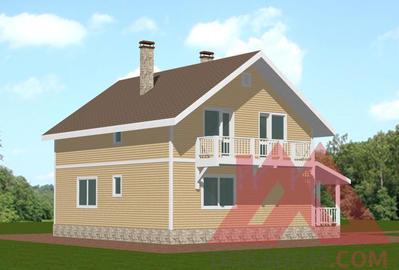 "Проект каркасного дома ""Палермо"", 8.2*10, 150 м.кв."