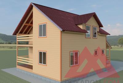 "Проект каркасного дома ""Премьер-М"", 9*9 м, 132 м.кв."