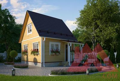 "Проект каркасного дома ""Ирис"", 5,6*4,6, 38 м.кв."