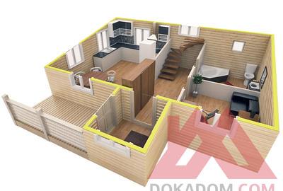 """Проект каркасного дома """"Терем-1"""" 6*9, 101 м.кв."""