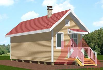 """Проект каркасного дома """"Вэлком"""", 3*9 м, 26 м.кв."""