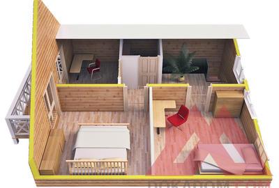 """Проект каркасного дома """"Искона"""", 7,4*7,2 м, 101 м.кв"""