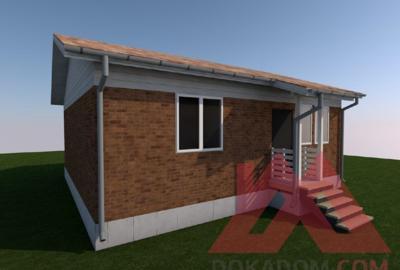 "Проект каркасного дома ""Карина"", 9,5*9 м, 64 м.кв."