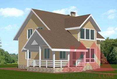 """Проект каркасного дома """"Дубрава"""", 12,5*13 м, 176 м.кв."""
