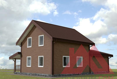 "Домокомплект каркасного дома с гаражом ""Аллегро-2"" 14*9, 153 кв.м."