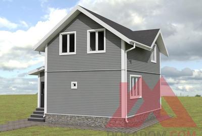 "Проект каркасного дома ""Мол"" 6*8м, 86 м.кв."